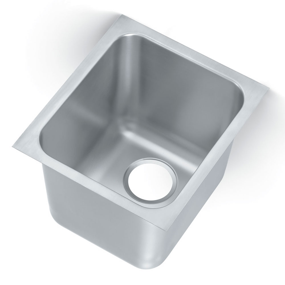 Vollrath 12121-1 1-Compartment Heavy Duty Stainless Drop-In Sink w/ Square Corners