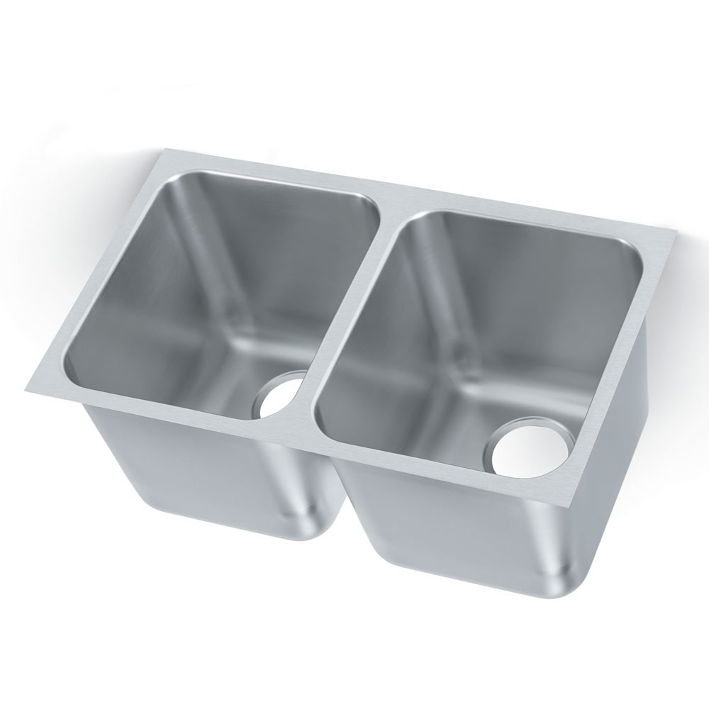 Vollrath 12122-1 2-Compartment Heavy Duty Stainless Drop-In Sink w/ Square Corners
