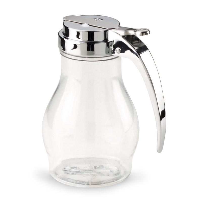 Vollrath 1214 16-oz Syrup Server - Chrome Cap, Poly, Clear