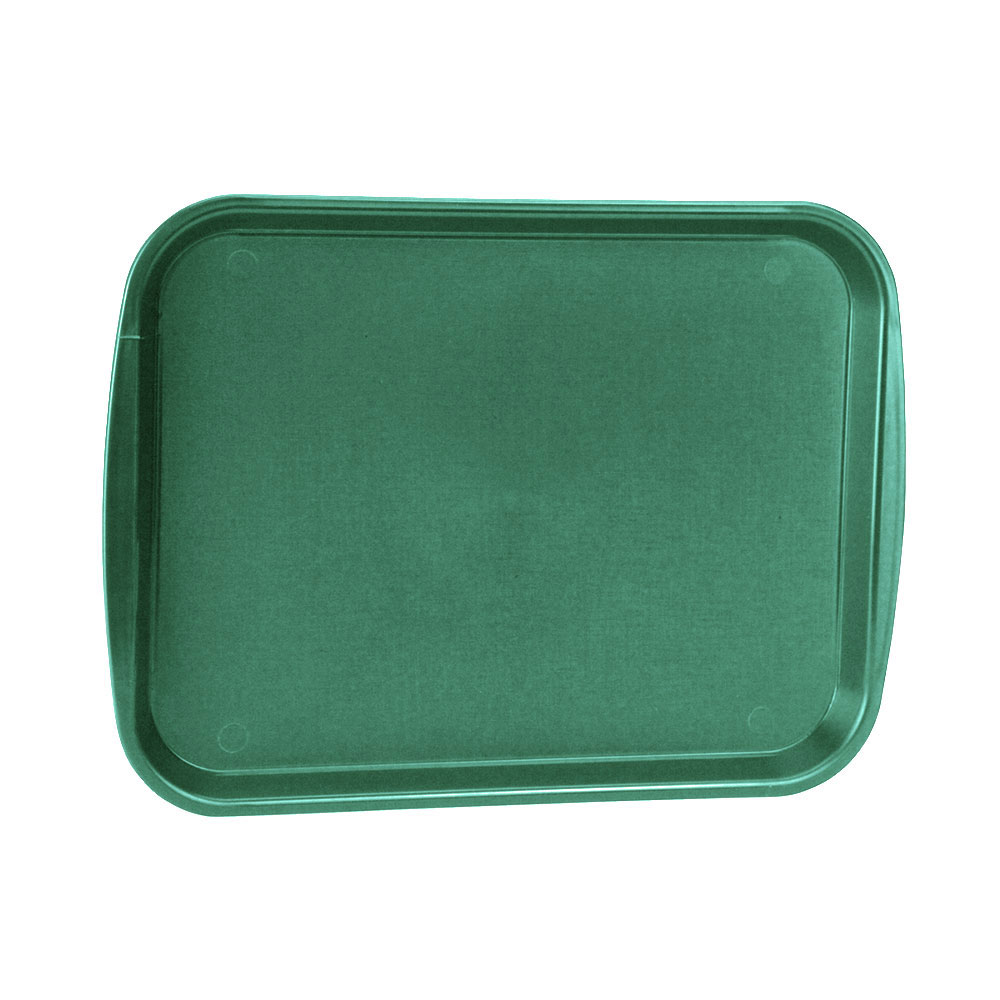 "Vollrath 1216-191 Rectangular Fast Food Tray - 12-1/8x17-3/16"", Plastic, Green"