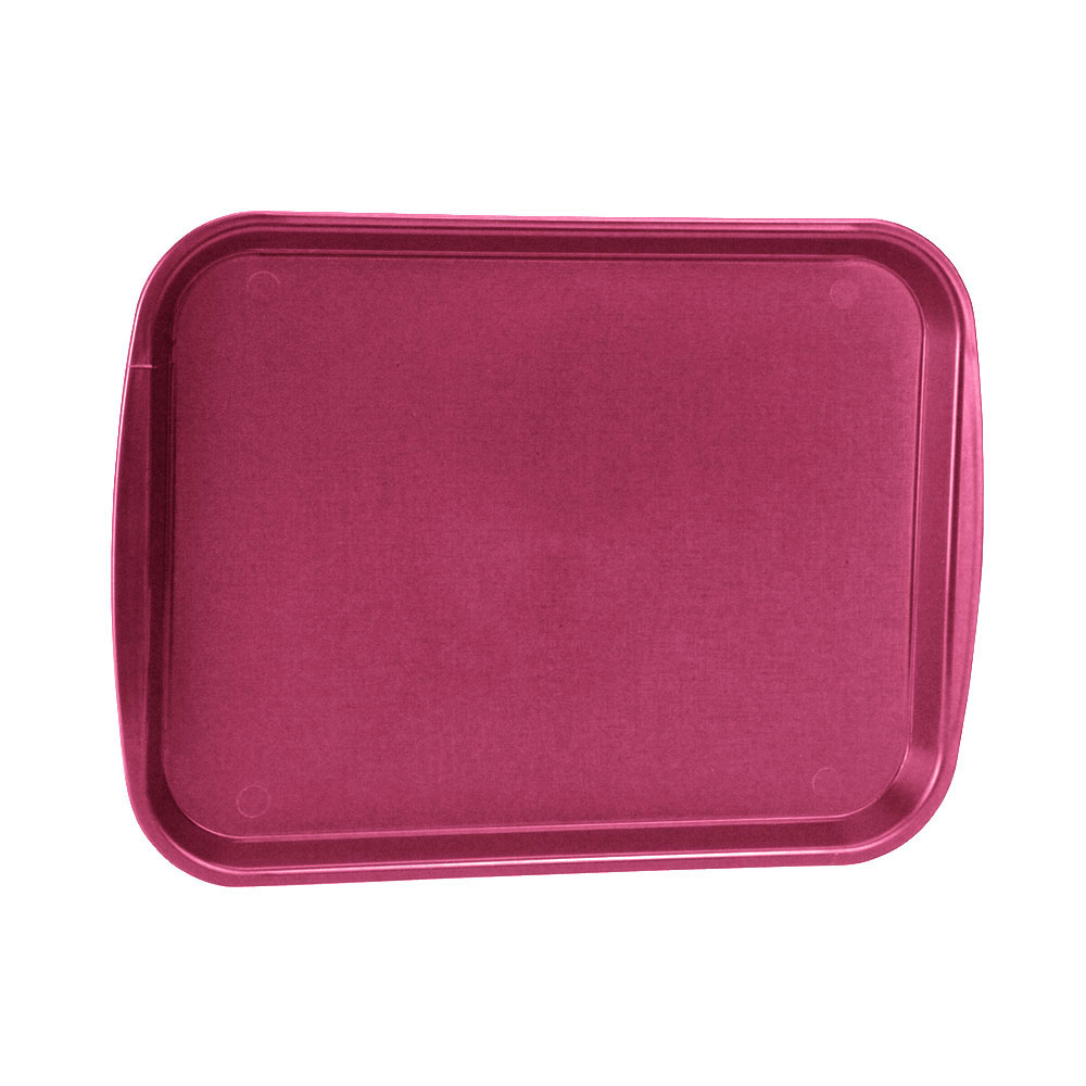 "Vollrath 1216-21 Rectangular Fast Food Tray - 12-1/8x17-3/16"", Plastic, Burgundy"