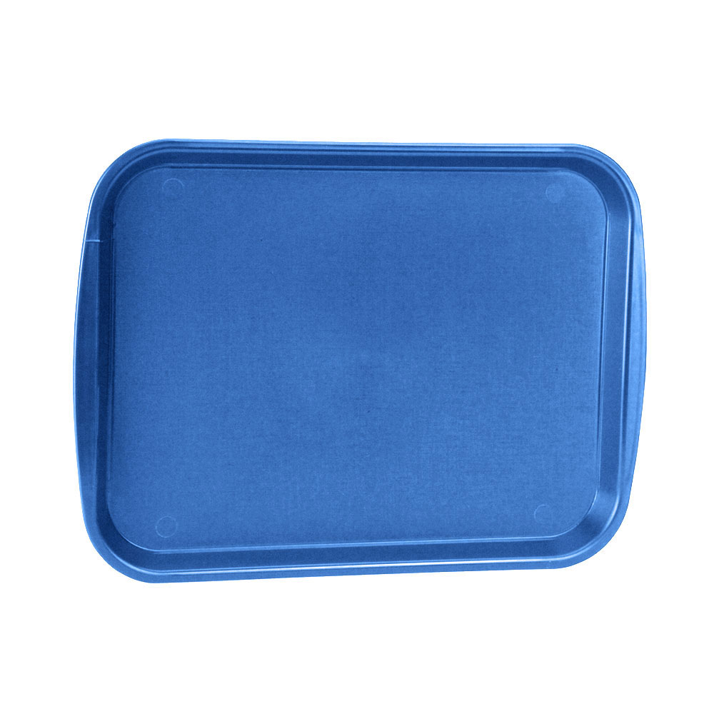 "Vollrath 1216-44 Rectangular Fast Food Tray - 12-1/8x17-3/16"", Plastic, Royal Blue"