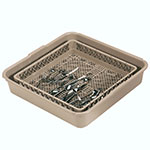 Vollrath 1397 Flatware Dishwasher Rack - For Full Tub & Open Rack, Poly, Beige