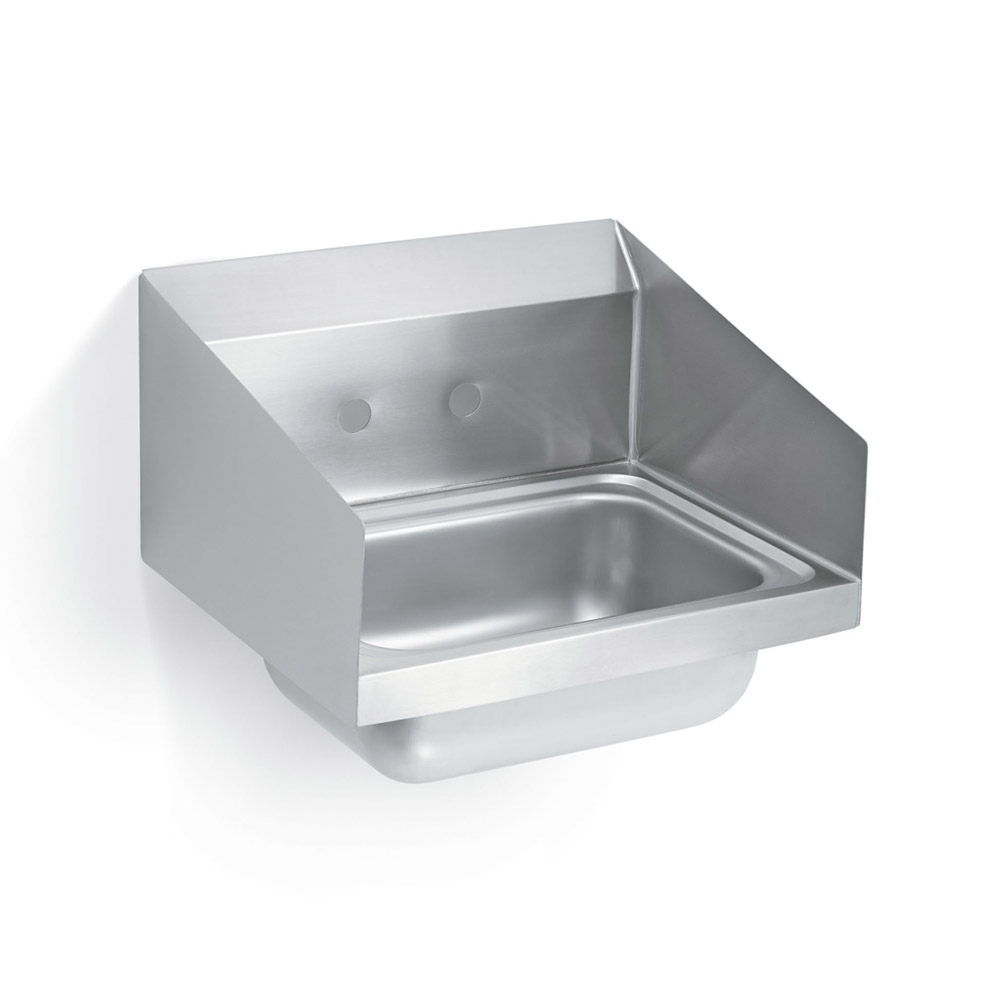 "Vollrath 1410CS Wall Mount Commercial Hand Sink w/ 17""L x 15""W x 5.5""D Bowl, Side Splashes"