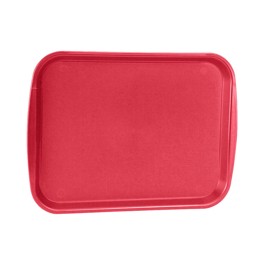 "Vollrath 1418-02 Rectangular Fast Food Tray -13-7/8 x 18-1/2"", Plastic, Red"