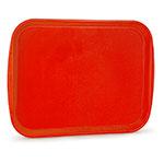 "Vollrath 1418-03 Rectangular Fast Food Tray -13-7/8 x 18-1/2"", Plastic, Orange"