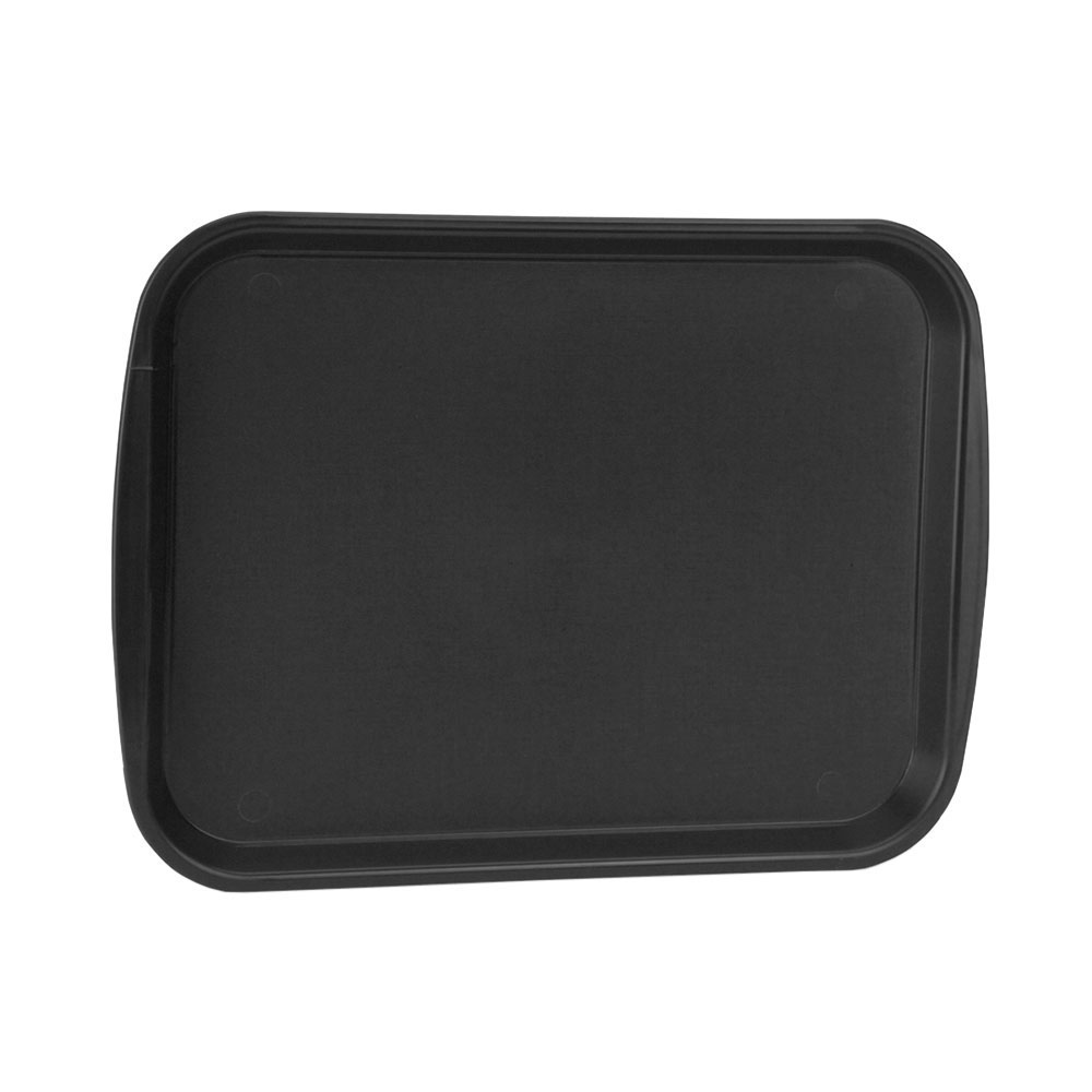 "Vollrath 1418-06 Rectangular Fast Food Tray -13-7/8 x 18-1/2"", Plastic, Black"