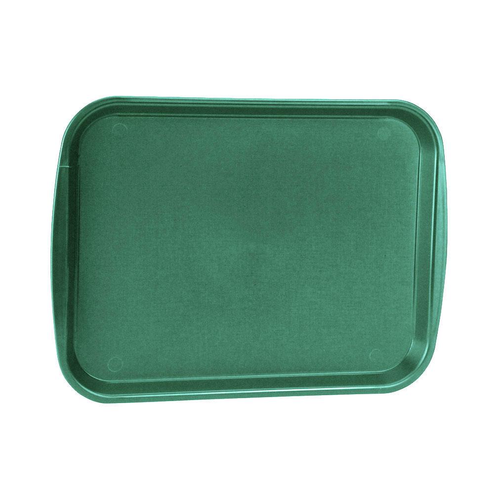 "Vollrath 1418-191 Rectangular Fast Food Tray - 13-7/8 x 18-1/2"", Plastic, Vista Green"