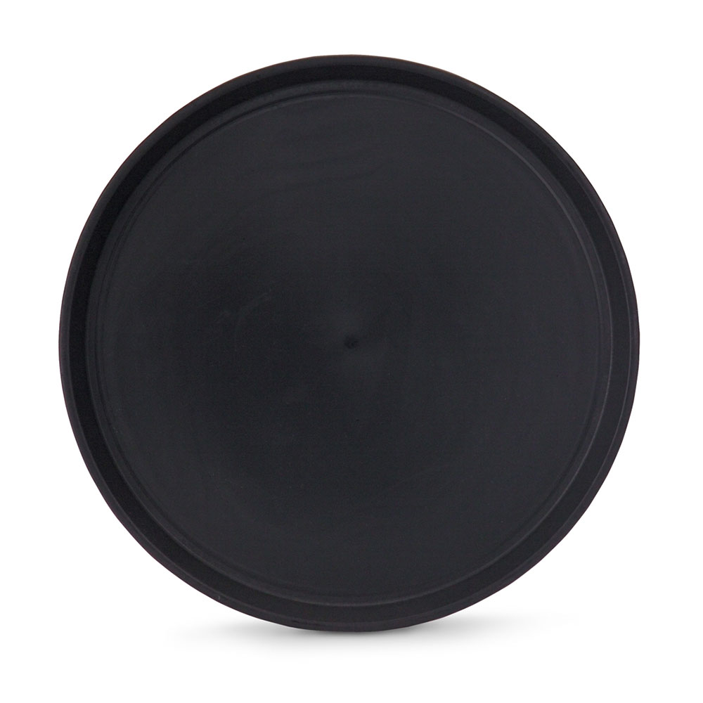 "Vollrath 1474-0606 14"" Round Serving Tray - Reinforced Plastic, Black"