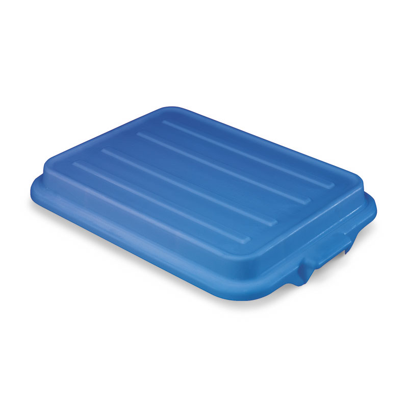 "Vollrath 1500-C04 Food Storage Box Cover - Snap-On, 22-1/8x15-5/8x2-1/2"", Poly, Blue"