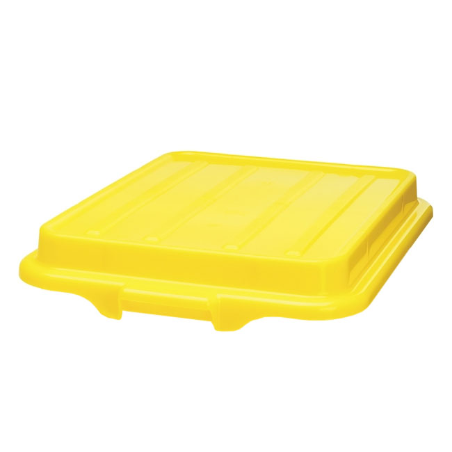 "Vollrath 1500-C08 Food Storage Box Cover - Snap-On, 22-1/8x15-5/8x2-1/2"", Poly, Yellow"