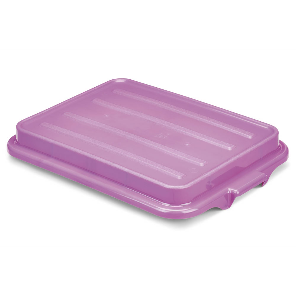 "Vollrath 1500-C80 Food Box Lid - 16"" x 22"", Polypropylene, Purple"