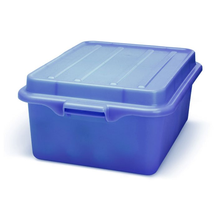 "Vollrath 1501-C04 Food Storage Drain Box - With Cover, 15x20x5"", Blue"