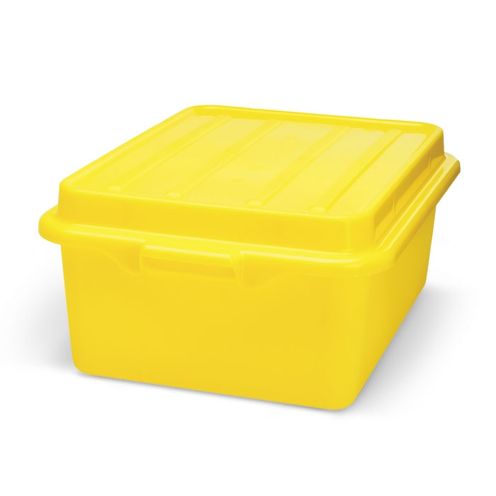 "Vollrath 1501-C08 Food Storage Drain Box - With Cover, 15x20x5"", Yellow"