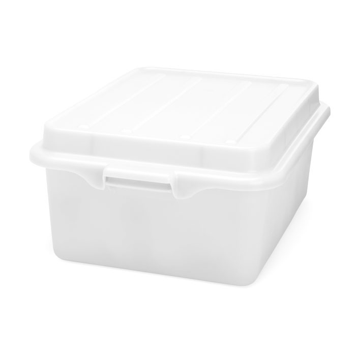 "Vollrath 1507-C05 Food Storage Drain Box - With Cover and Drain, 15x20x7"", White"