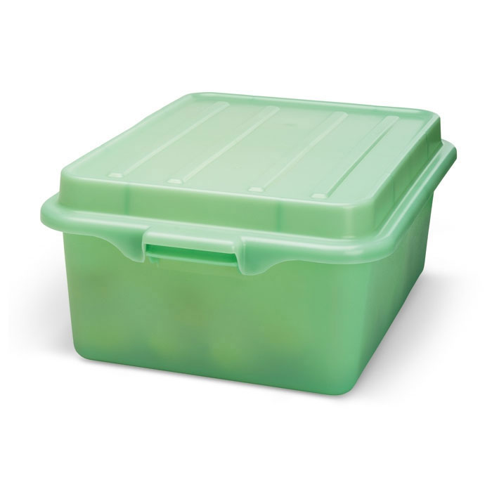 "Vollrath 1507-C19 Food Storage Drain Box - With Cover and Drain, 15x20x7"", Green"