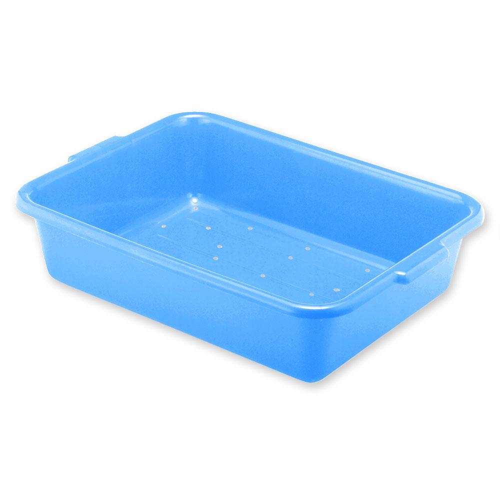 "Vollrath 1511-C04 Drain Box - Handles, 20x15x5"", Blue"