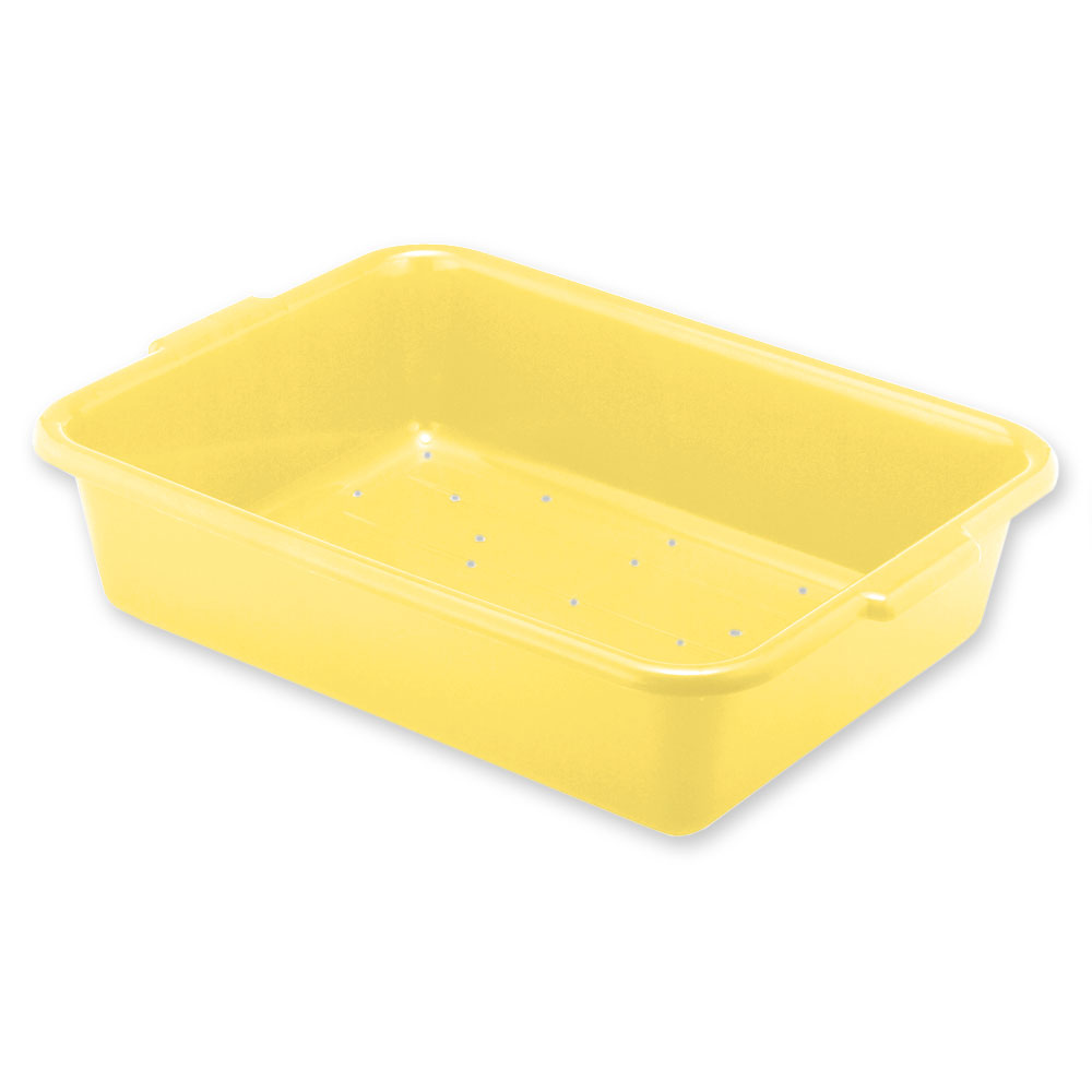 "Vollrath 1511-C08 Drain Box - Handles, 20x15x5"", Yellow"