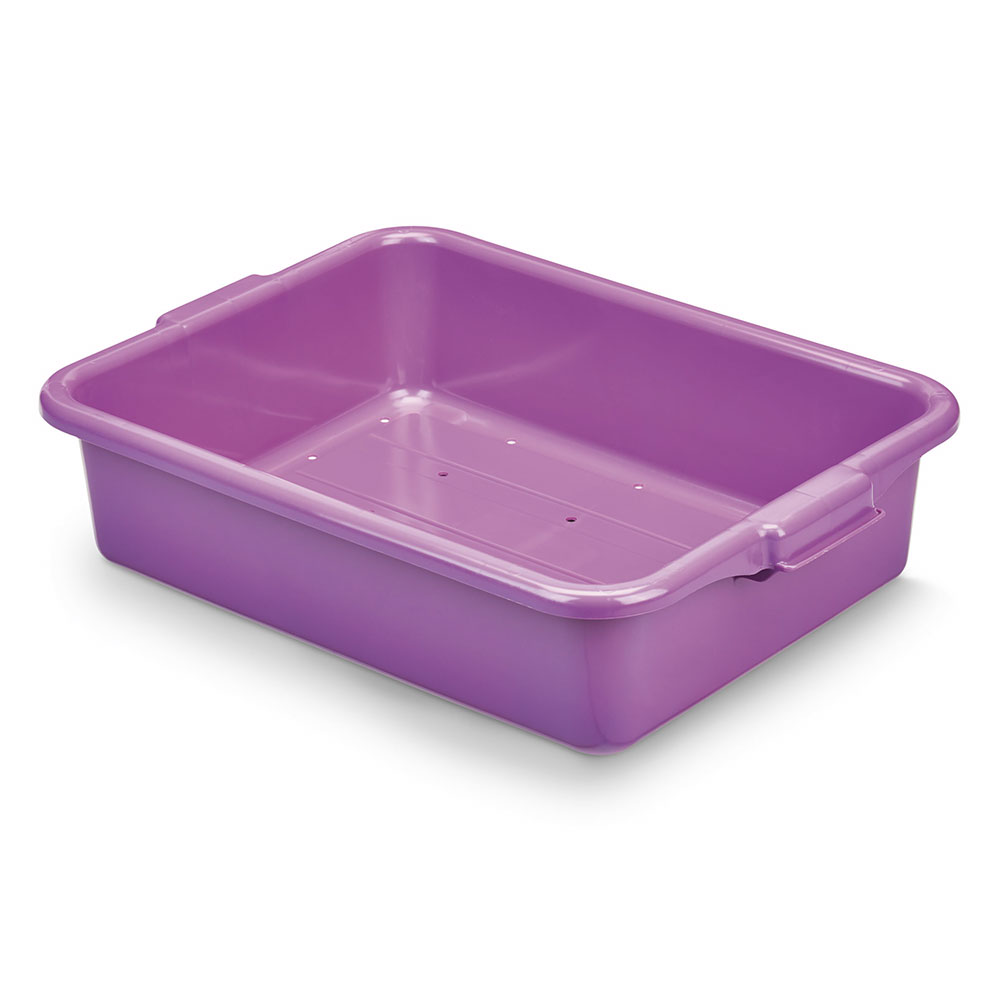 "Vollrath 1511-C80 Food Storage Drain Box - 20"" x 15"" x 5"", Plastic, Purple"