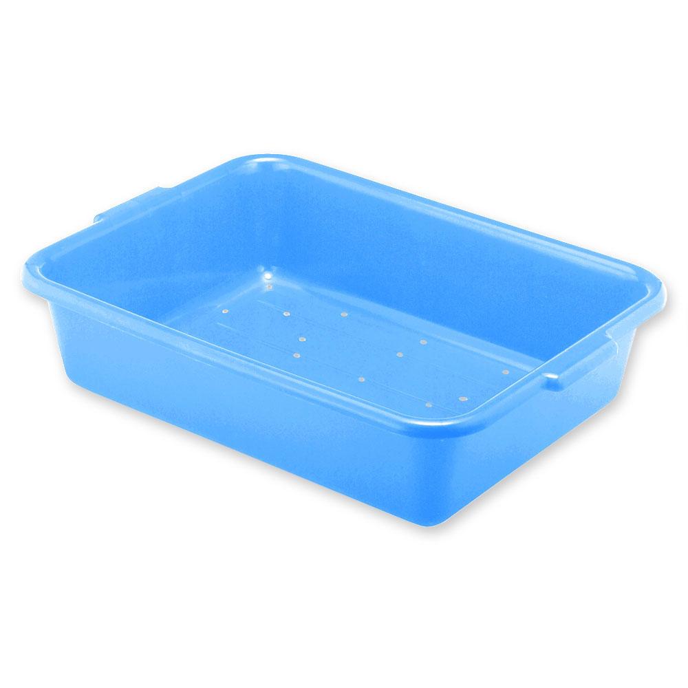 Vollrath 1517-C04 Drain Box - Handles, 20x15x7, Plastic, Blue