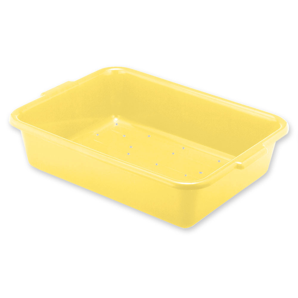 Vollrath 1517-C08 Drain Box - Handles, 20x15x7, Plastic, Yellow