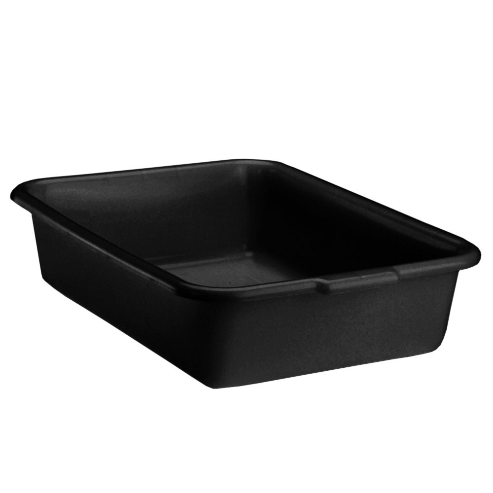 "Vollrath 1521B-06 Deluxe Bus Box - Tapered Side Walls, 15 x 20 x 5"", Plastic, Black"