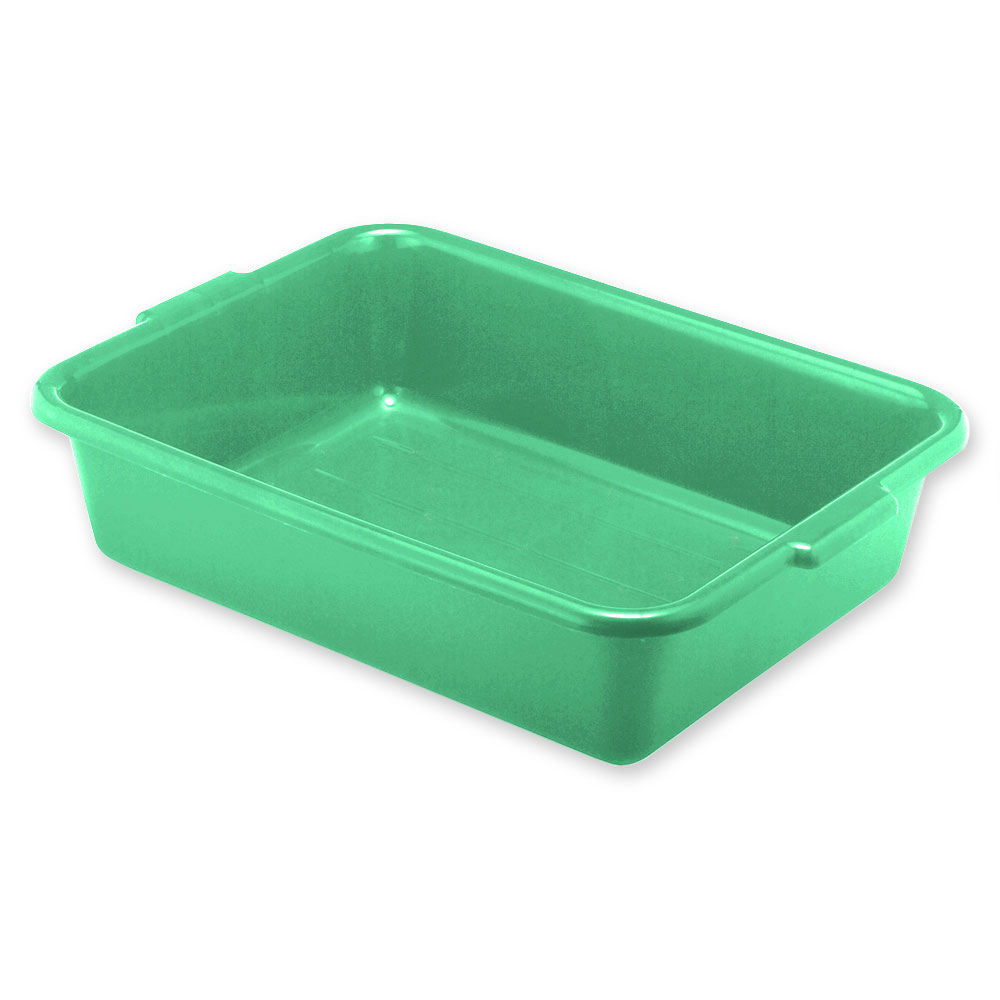 "Vollrath 1521-C19 Food Storage Box - Handles, 15x20x5"", Plastic, Green"