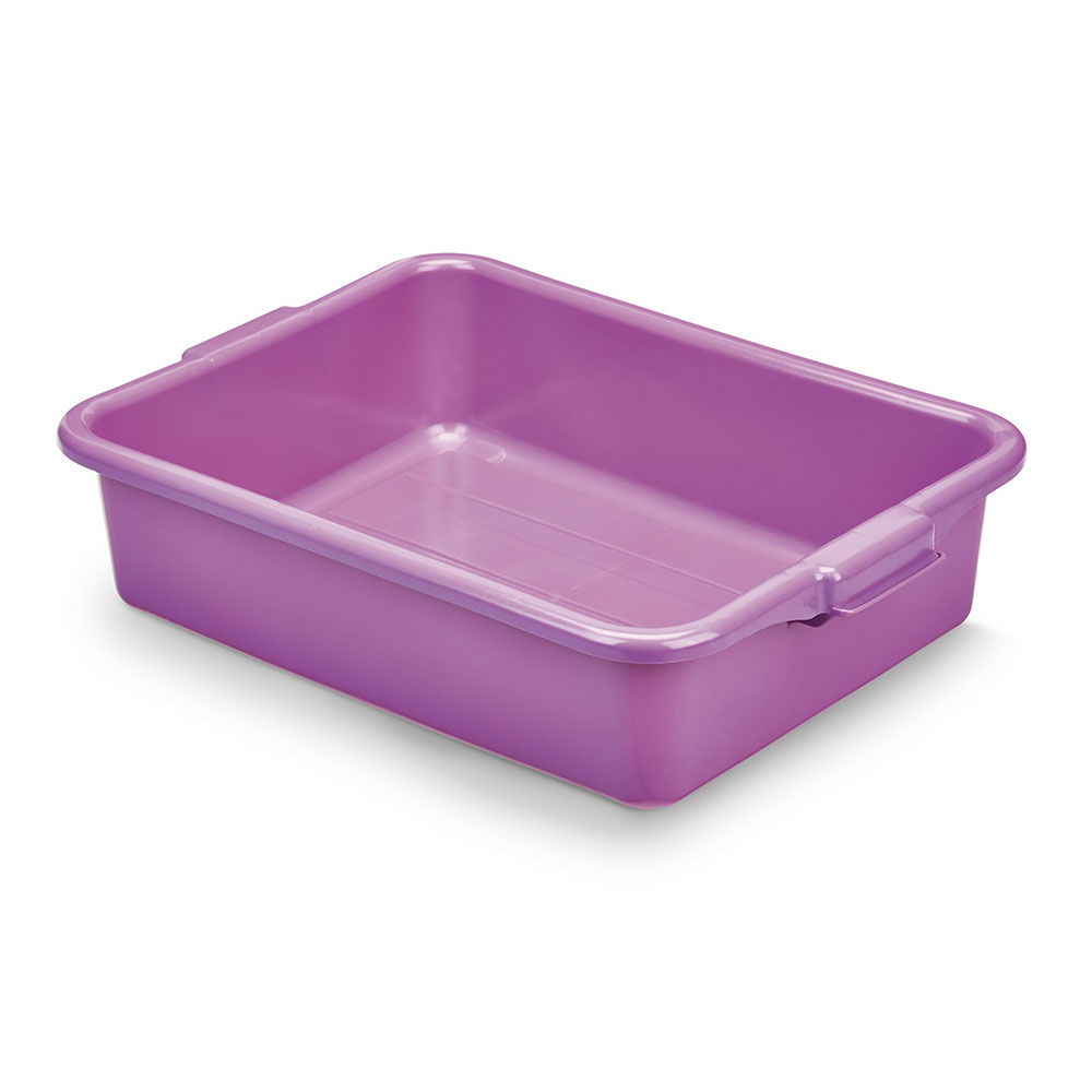 "Vollrath 1521-C80  Food Storage Box - 20"" x 15"" x 5"", Plastic, Purple"