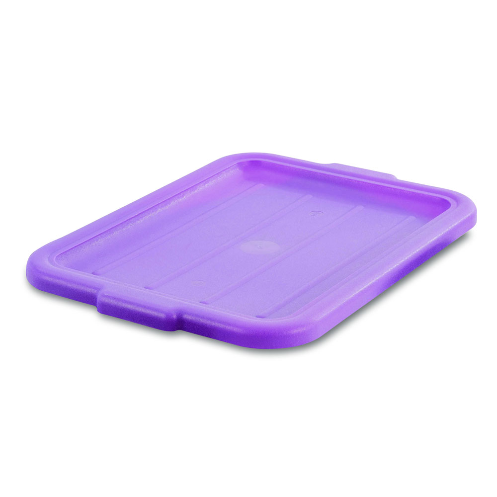 "Vollrath 1522-C80  Food Box Lid - 15"" x 20"", Plastic, Recessed, Purple"