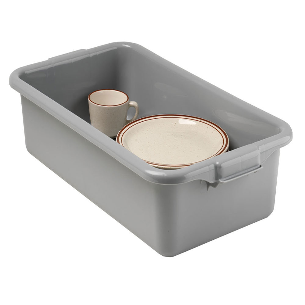 "Vollrath 1527-31 Bus Box - 1-Compartment, 15x20x7"", Plastic, Gray"