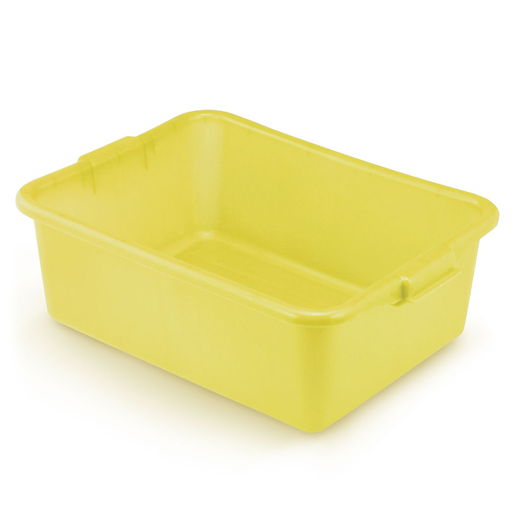 "Vollrath 1527-C08 Food Storage Box - Molded Handles, 20x15x7"", Yellow"