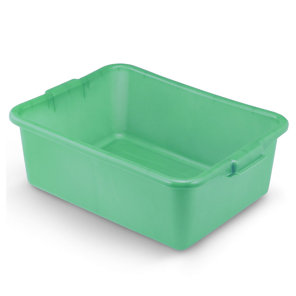 "Vollrath 1527-C19 Food Storage Box - Molded Handles, 20x15x7"", Green"