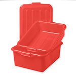 "Vollrath 1535-C02 Food Storage Box Combo - 5"" Drain, 7"" Box, Snap-On Lid, Red"