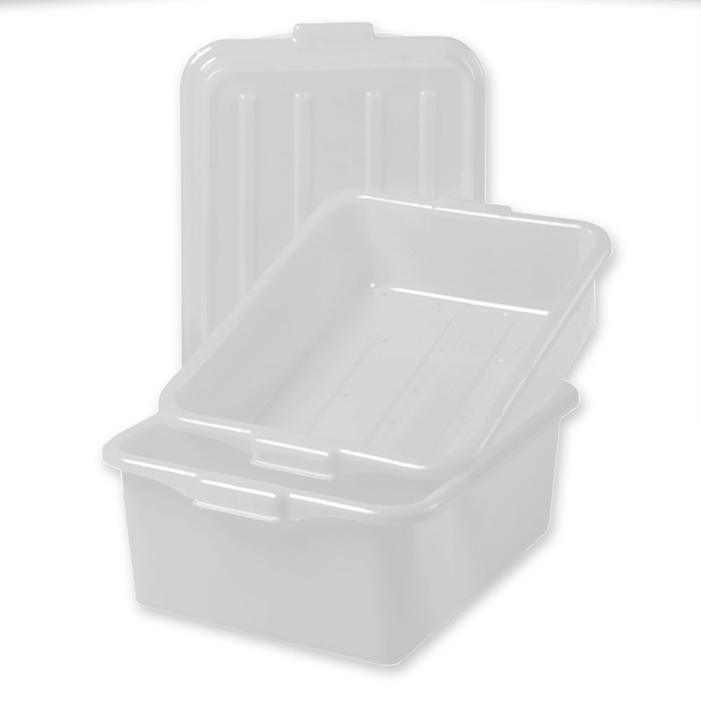 "Vollrath 1535-C05 Food Storage Box Combo - 5"" Drain, 7"" Box, Snap-On Lid, White"