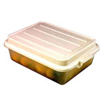 "Vollrath 1551-C13 Combo Food Storage Box - 5"" Drain, 7"" Box, Snap-On Lid, Clear"