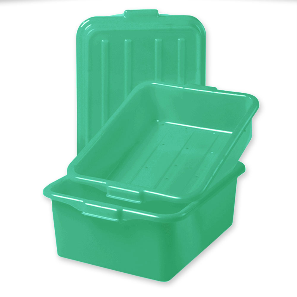 "Vollrath 1551-C19 Combo Food Storage Box - 5"" Drain, 7"" Box, Snap-On Lid, Green"