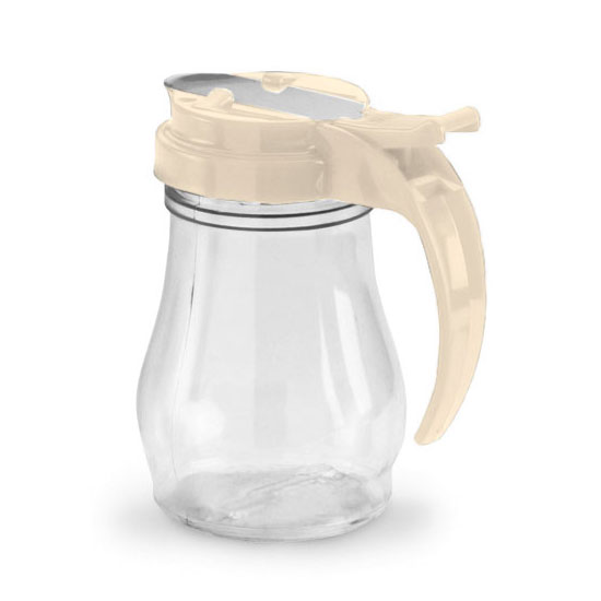 Vollrath 1606-18 7-oz Syrup Jar - Almond Cap, Poly, Clear