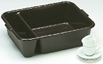Vollrath 1721-01 Divided Bus Pan, 18 x 23 x 6-in Deep, Brown