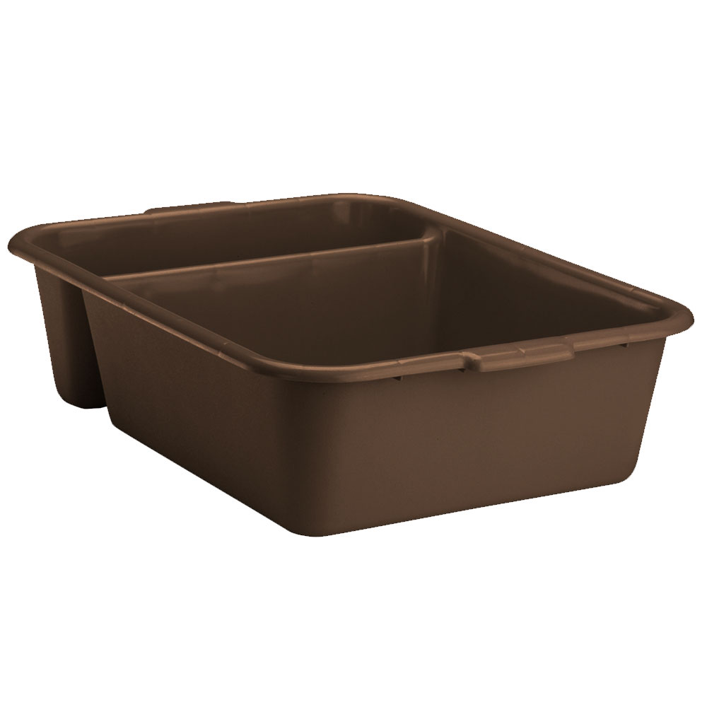 "Vollrath 1721-01 Divided Bus Pan, 18 x 23 x 6"" Deep, Brown"