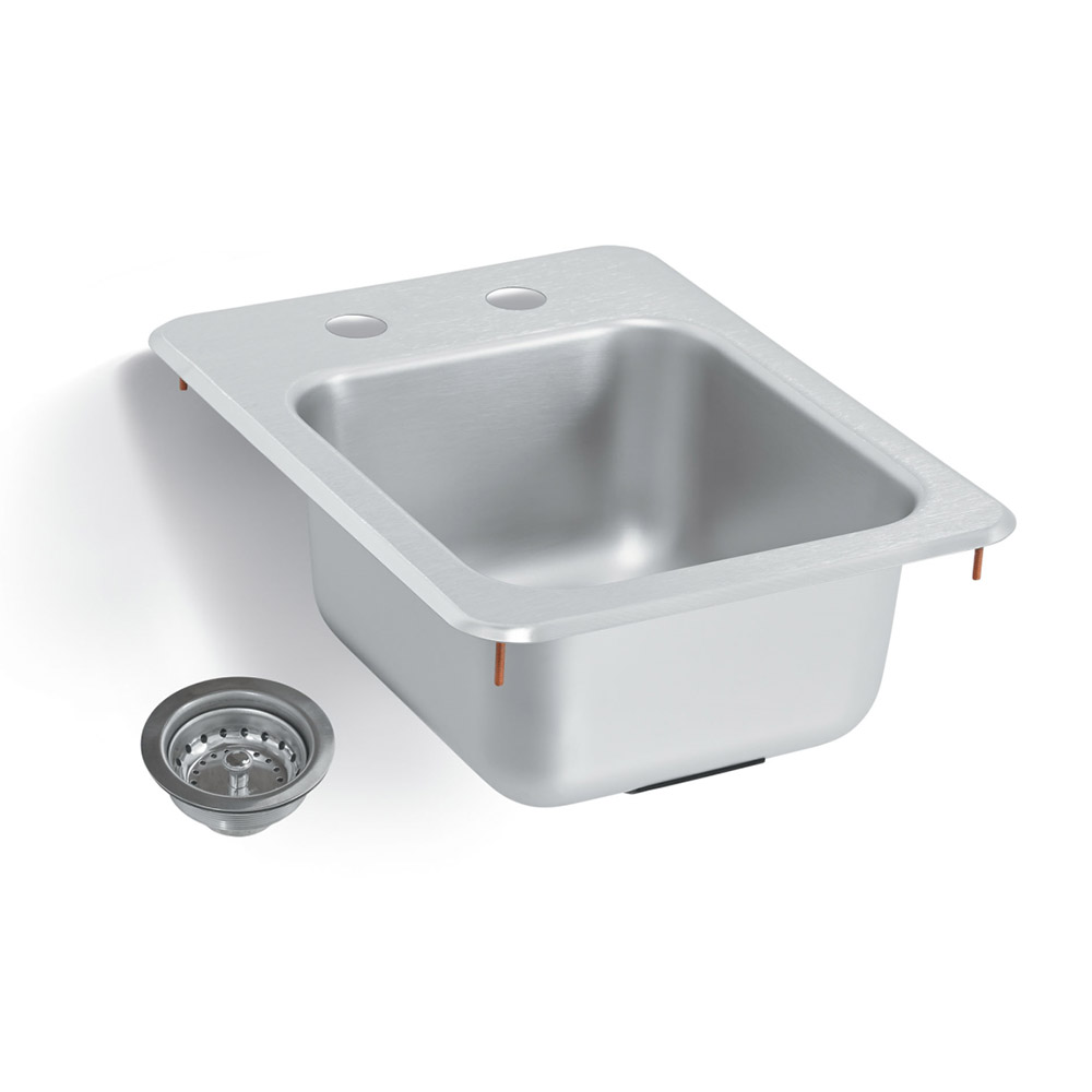 "Vollrath 1734-C Yukon Bar/Waitress Drop-In Sink, Strainer, 13""x17"""
