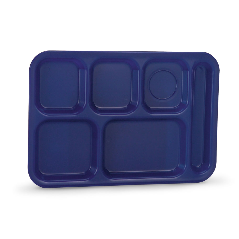 "Vollrath 2015-104 School Compartment Tray - Right Hand, 9-7/8x14-3/4"", Blue"