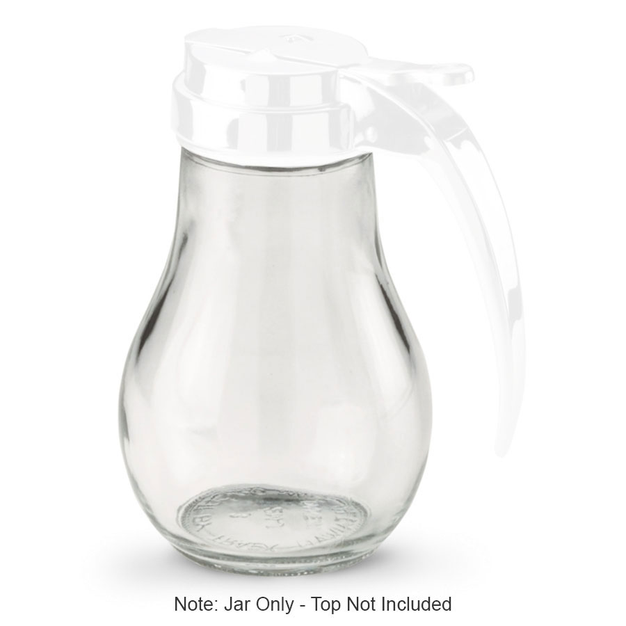 Vollrath 214J Dripcut Syrup Server, Glass Jar Only, 14-oz, for 214 & 614 Server