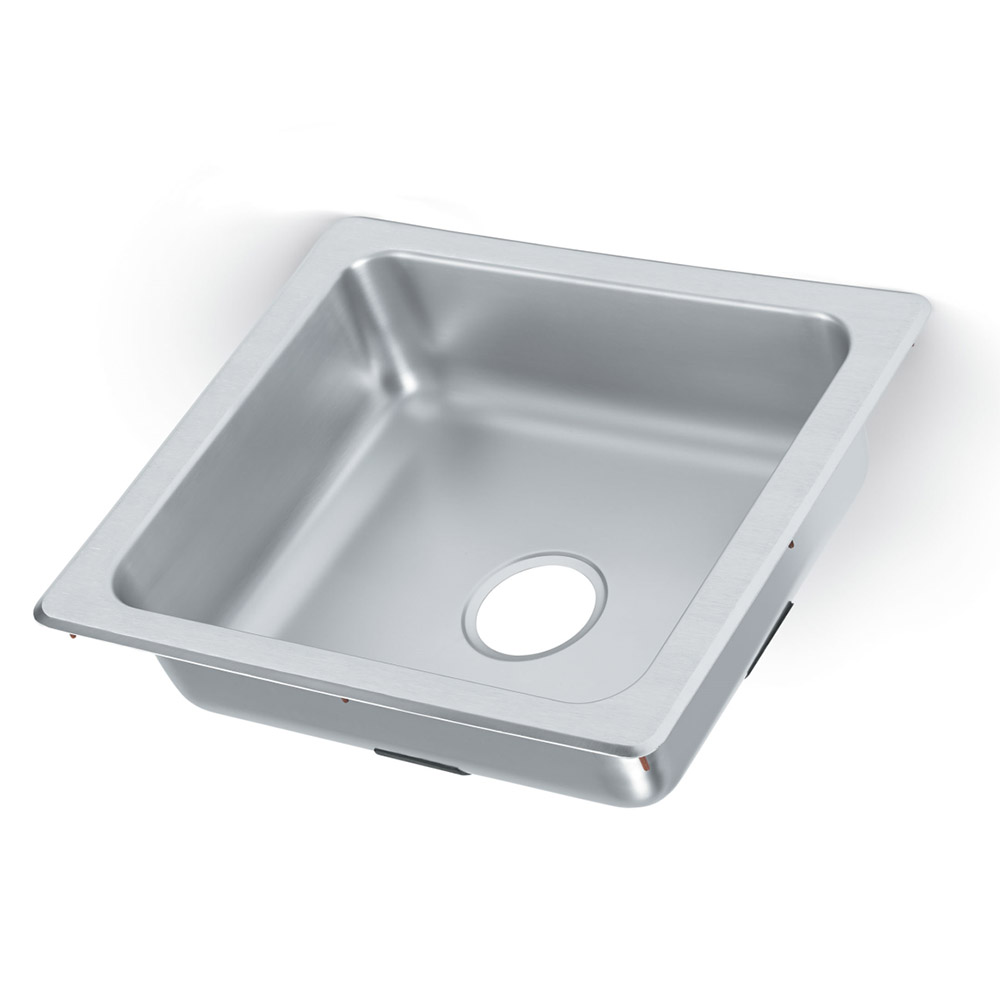 "Vollrath 229-1 1-Compartment Stainless Drop-In Sink, 3.5"" Drain"