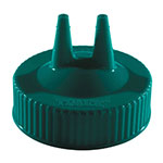 Vollrath 2300-191 Twin Tip Squeeze Bottle Replacement Cap - Wide Mouth, 16-32-oz, Green
