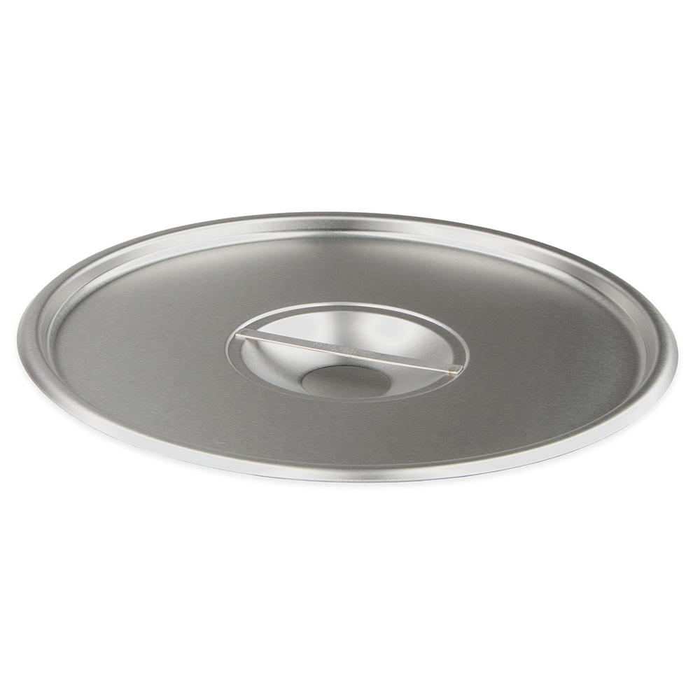 Vollrath 240-2 Stock Pot Cover for 16 Qt, 20 Qt, 24 Qt. Pot, Solid Stainless Steel
