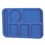 "Vollrath 2614-04 School Compartment Tray - Left Hand, 9-3/4x13-3/4"", Blue"