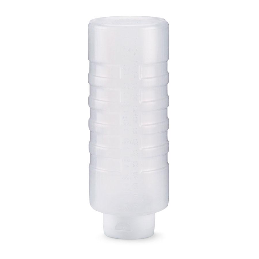 Vollrath 26240-13 24-oz Squeeze Dispenser - White Cap, Clear