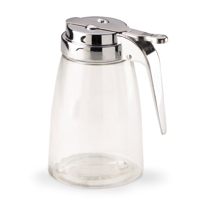 Vollrath 2710L 10-oz Syrup Server - Chrome Cap, Clear