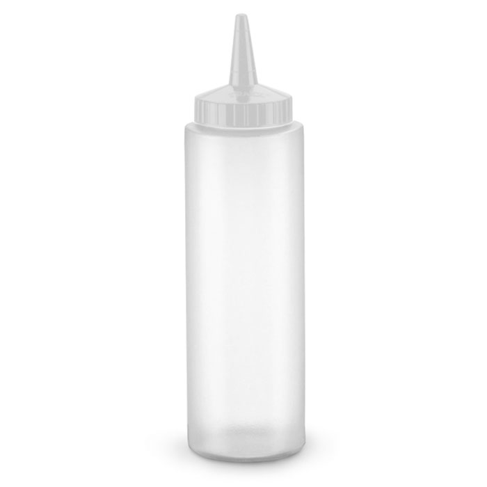 Vollrath 2808-13 8-oz Squeeze Dispenser - Clear Cap, Clear