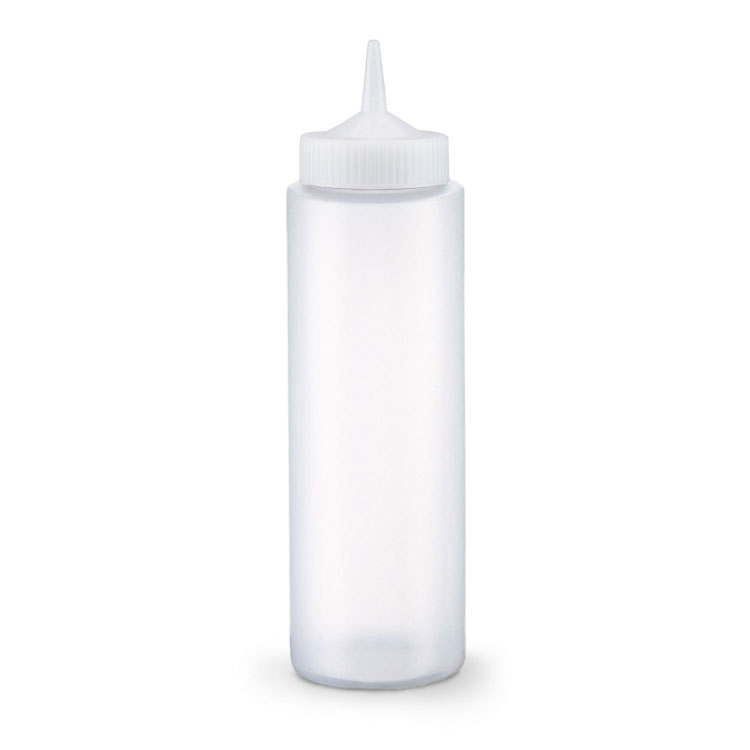 Vollrath 2812-13 12-oz Squeeze Dispenser - Clear Cap, Clear